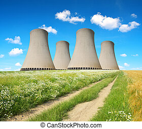 nuclear power plant - Cooling towers of a nuclear power...