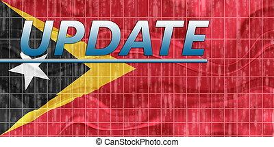 Flag of Timor-Leste wavy news - News information splash Flag...