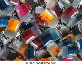 Ink Cartridge Mountain - A pile of empty Ink Cartridges...