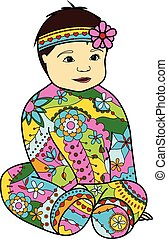 Baby girl colorful