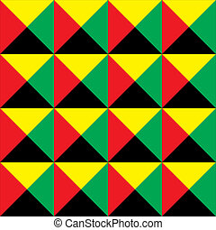black red yellow green tile seamless background