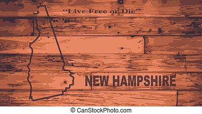New Hampshire Map Brand - New Hampshire state map brand on...