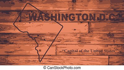 Washington DC Map Brand - Washington DC state map brand on...