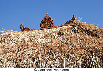Straw Roof - Straw roof of a grass hut