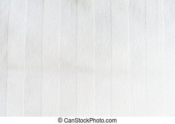 White Bed linen - Zoom shot of White Bed linen for...
