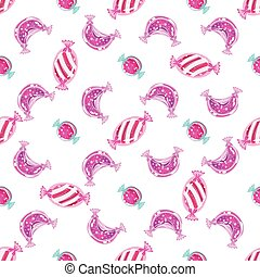 Candy Pattern. Colourful Vector Illustration