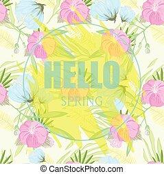 Hello Spring. Vector Illustration