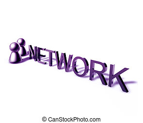 Network word graphic