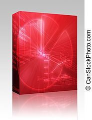 Spreadsheet business charts illustration box package -...