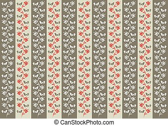 Background with traditional Hungarian floral motif with...