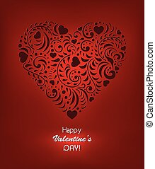 Valentines day background - Vector illustration of...
