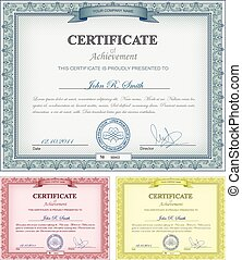 Multicolored certificates