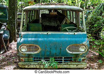 No Windshield - DETROIT, MICHIGAN - May 11, 2015: The Ford...