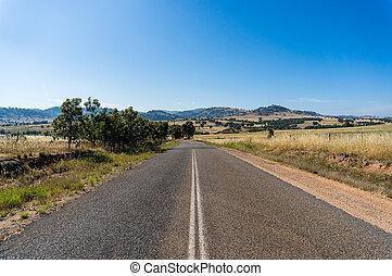 Rural road in Australian outback - Australian outback road....