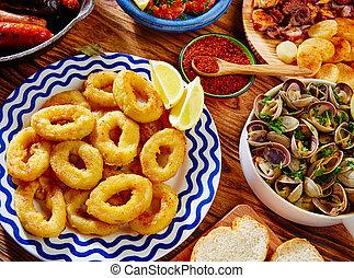 Tapas calamari romana squid rings seafood Spain - Tapas...