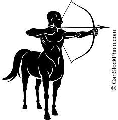 Centuar, koń, Człowiek,