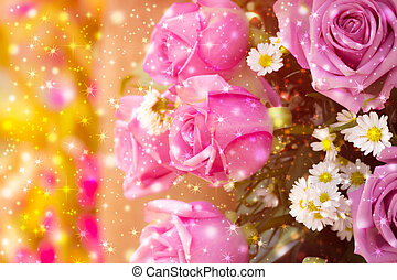 beautiful background with flowers roses