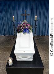 caixão, necrotério