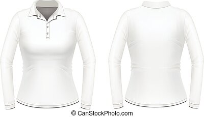White long sleeve female shirt