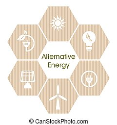 Alternative energy - Vector illustration of alternative...