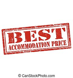 Best Accommodation Price - Grunge rubber stamp with text...