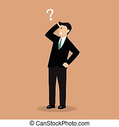 Businessman confusing Vector illustration