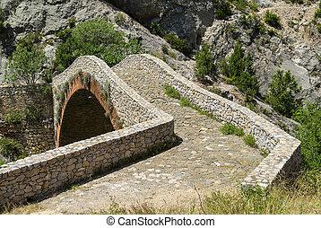 Noguera (Catalunya), historic bridge - Noguera (Catalunya,...