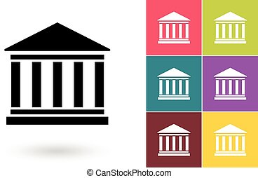 Bank vector icon or bank symbol. Bank icon or bank pictogram...