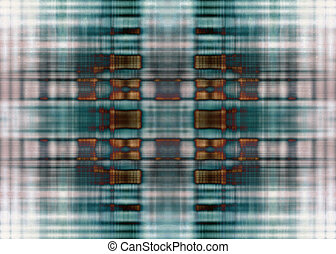 Grunge lines background - Dirty brown and blue grunge...