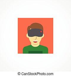 Virtual reality icon on white background