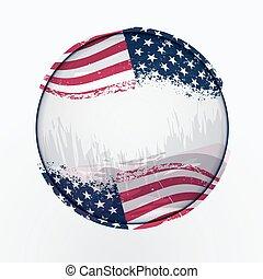 U.S.A flag shaped like a earth.