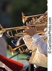 músico, juego, Trombones