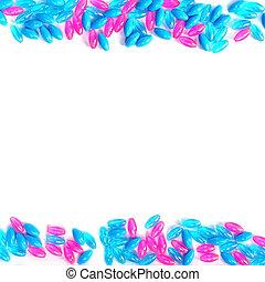 藍色, 粉紅色, 小珠