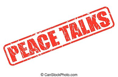 PEACE TALKS red stamp text