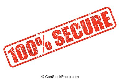 100 PERCENT SECURE red stamp text