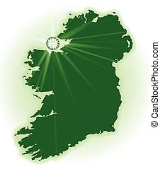 Eire The Emerald Isle - Silhouette of Eire the emerald isle...