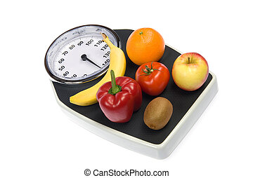 Weight Scale - A weight scale with fruit