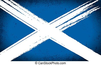 Scottish Saltire Flag Grunge - The Scottish saltire flag...