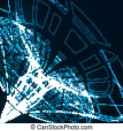 Abstract technological background, futuristic art...