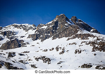 Snow Mountain in Engadin, Switzerland - Snow Mountain in...
