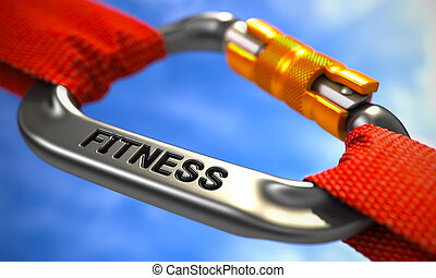 Chrome Carabiner Hook with Text Fitness - Chrome Ropes...