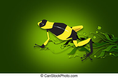 Toad - Illustration of a yellow and black stripped
