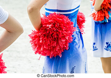 cheerleaders closeup