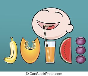 It is useful to drink fresh juice for your health.