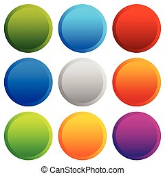 Colorful button, badge backgrounds with blank space vector
