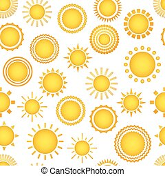 Sun seamless vector pattern - Sun seamless pattern Creative...