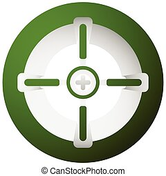 Target mark, cross-hair, reticle isolated on white Vector...