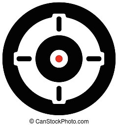 Target mark, cross-hair, reticle isolated on white. Vector...