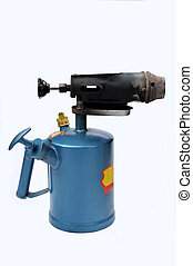 blowtorch - A blue blowtorch on a white background
