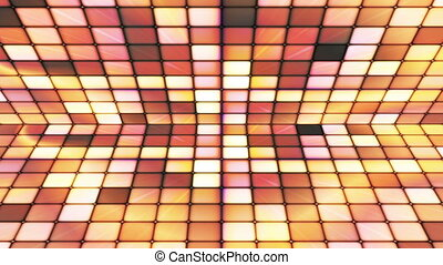 Broadcast Twinkling Hi-Tech Cubes Stage, Yellow, Abstract,...